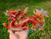 "10"" Carnelian / Red Agate Chinese Dragon Statue Home Decorative Feng Shui Sculpture"
