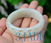 55.5mm white jade bangle
