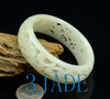 small size carved Hetian jade bangle