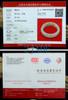 55.5mm Hand Carved White Nephrite Jade Bangle Bracelet, w/ Certificate