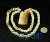 Hand Carved Jade Link Chain Necklace