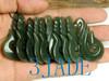 New Zealand Maori Style Hook Hei Matau Natural Nephrite Jade Pendant -G012285