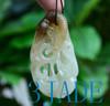 hand carved jade shrimp pendant