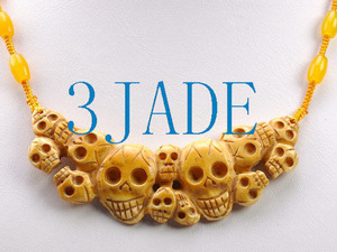 Tibetan Hand Carved Bone Skulls Pendant Necklace 33 3jade Wholesale Of Jade Carvings Jewelry Collectables Prayer Beads