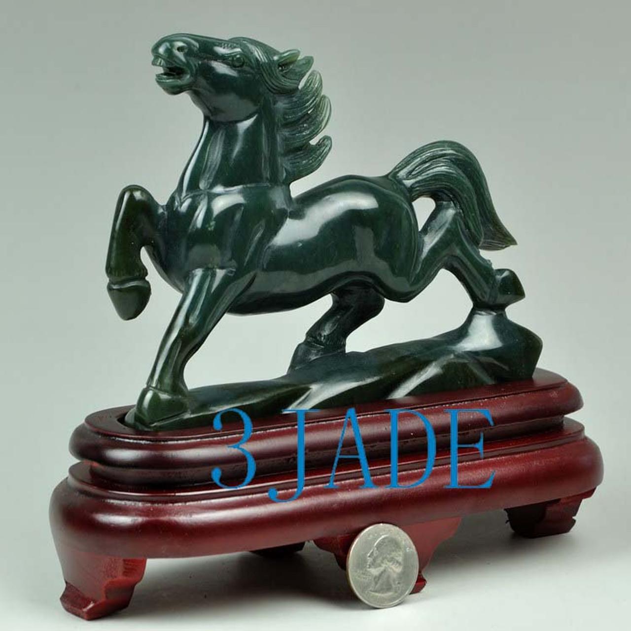 rush horse statue