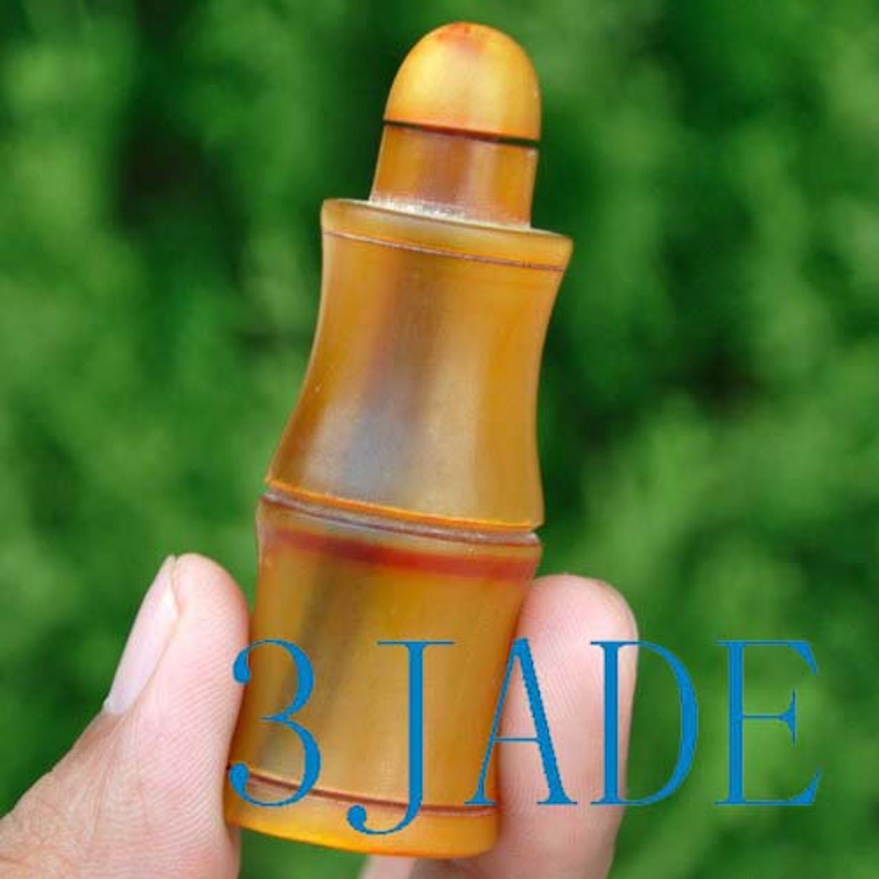 Hand Carved Horn Snuff Bottle -N009085