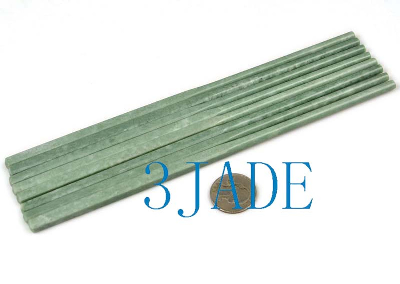 green jade stone chopsticks
