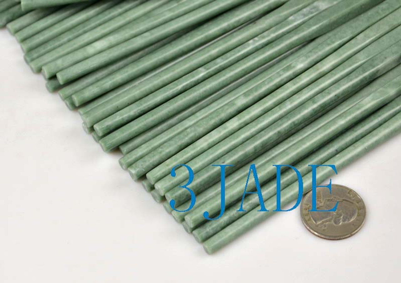 4 Pairs of Handmade Natural Green Marble / Stone / Chinese Jade Chopsticks -N012016
