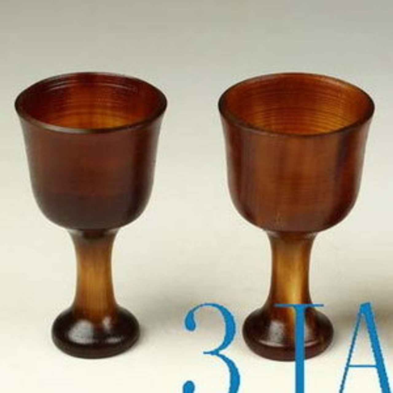2pcs Hand Carved Natural Horn Cups / Mugs