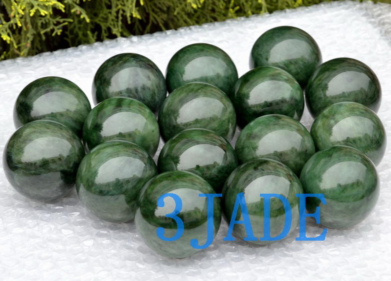 green nephrite jade sphere wholesale
