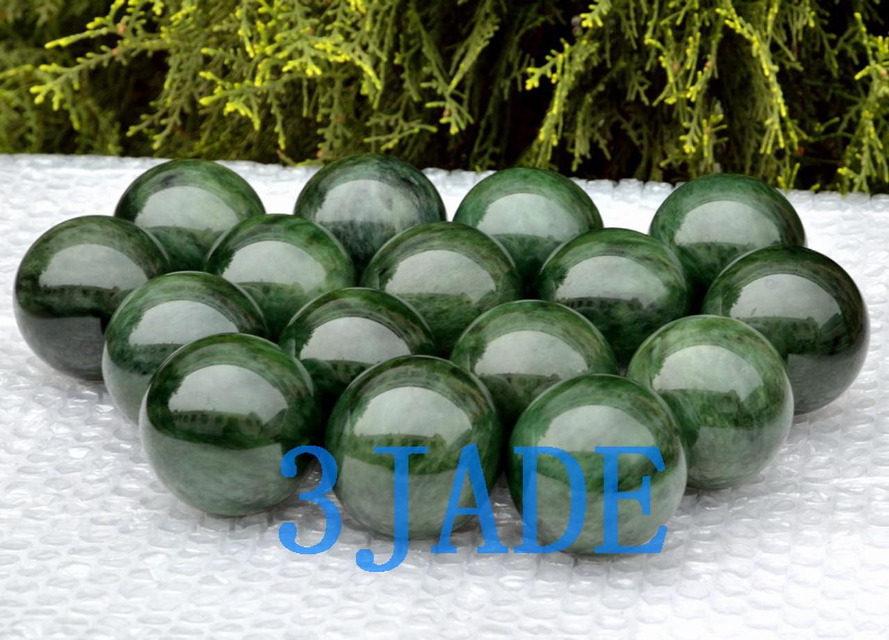 green nephrite jade ball wholesale