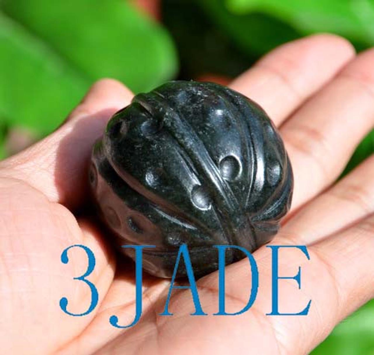 Nephrite Jade Walnut Ball