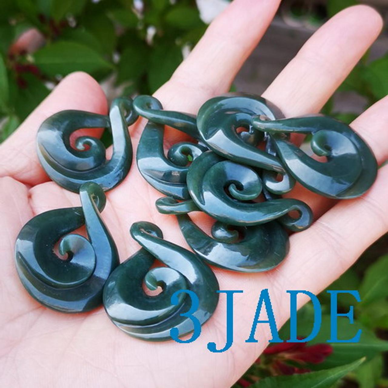 Jade Twist Koru pendant
