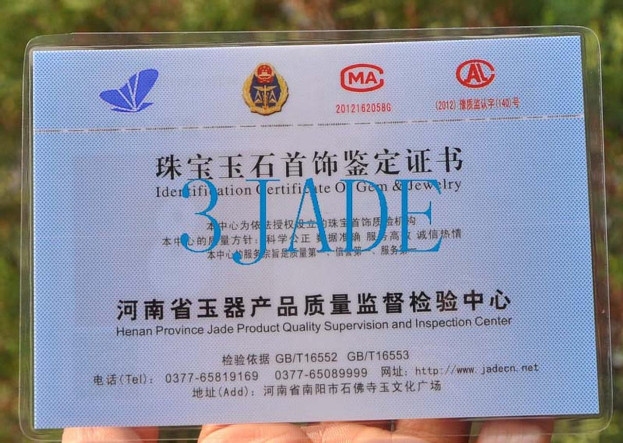 Certified Natural Jadeite Jade Double Twist Pendant Greenstone Necklace Maori Carving -G015156