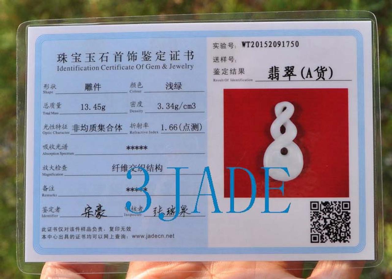 jadeite jade certificate