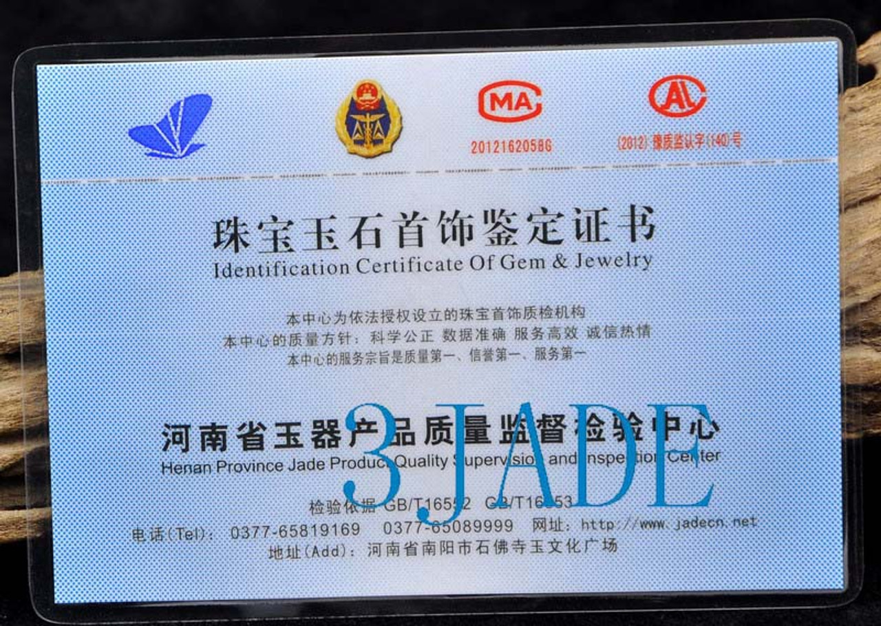 58mm Pure Black Natural Nephrite Jade Bangle Bracelet w/ Certificate