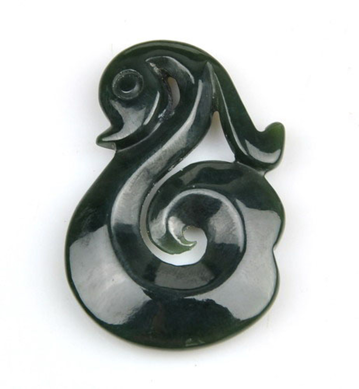 Nephrite Jade Koru Pendant Greenstone Pounamu Necklace New Zealand Maori Art -G012423