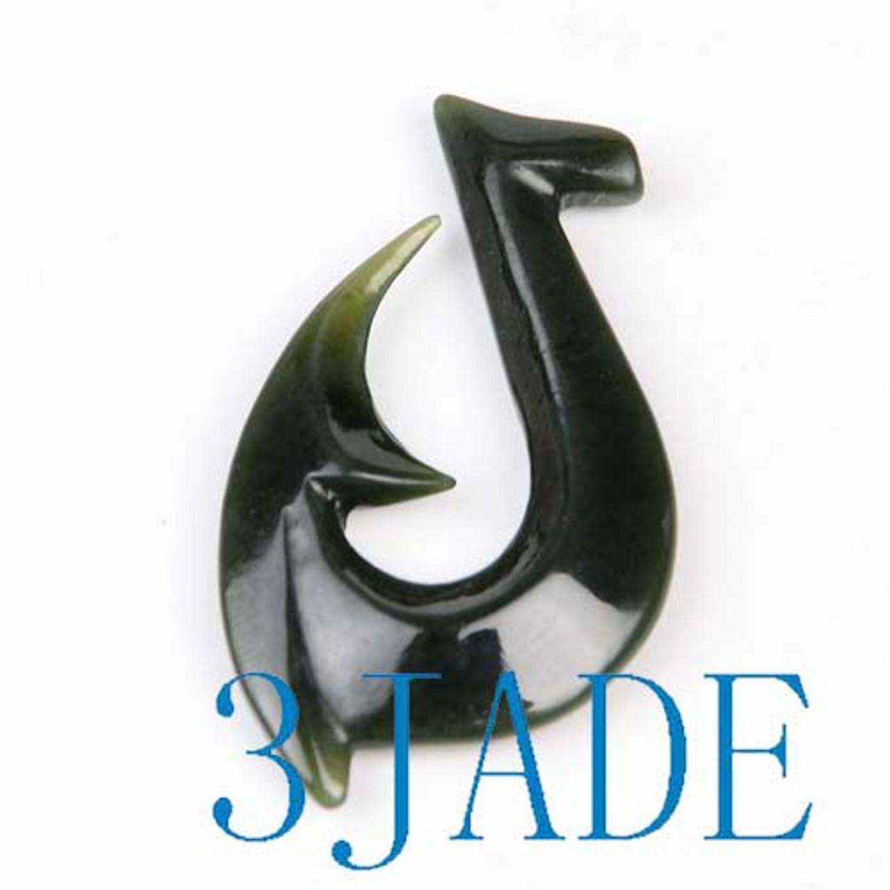 Jade Hei Matau Pendant Fish Hook Necklace