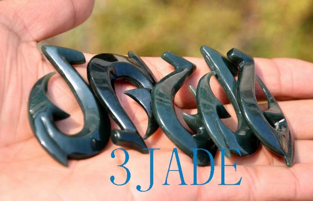 jade fish hook pendent