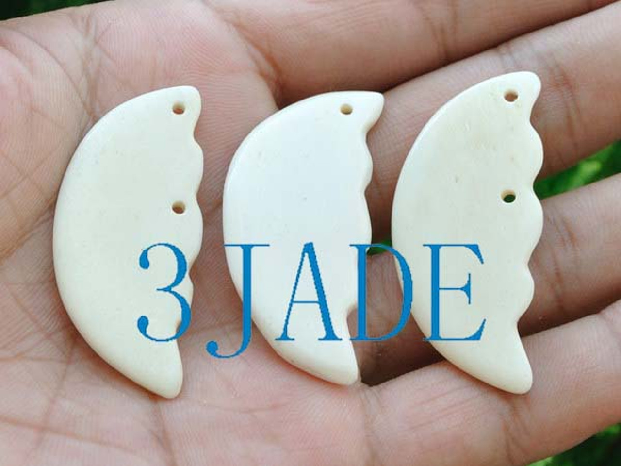 3pcs Hand Carved Nz Maori Style Bone Carving Blessing Pendant Necklace G029135 3jade Wholesale Of Jade Carvings Jewelry Collectables Prayer Beads