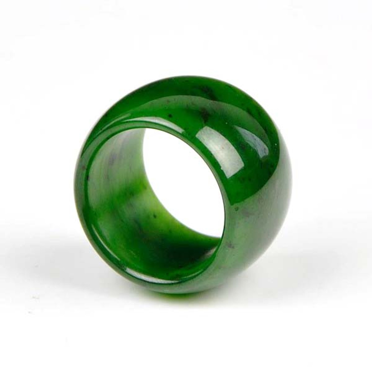 US Taille 13 22mm*26mm natural jade jade Thumb Ring