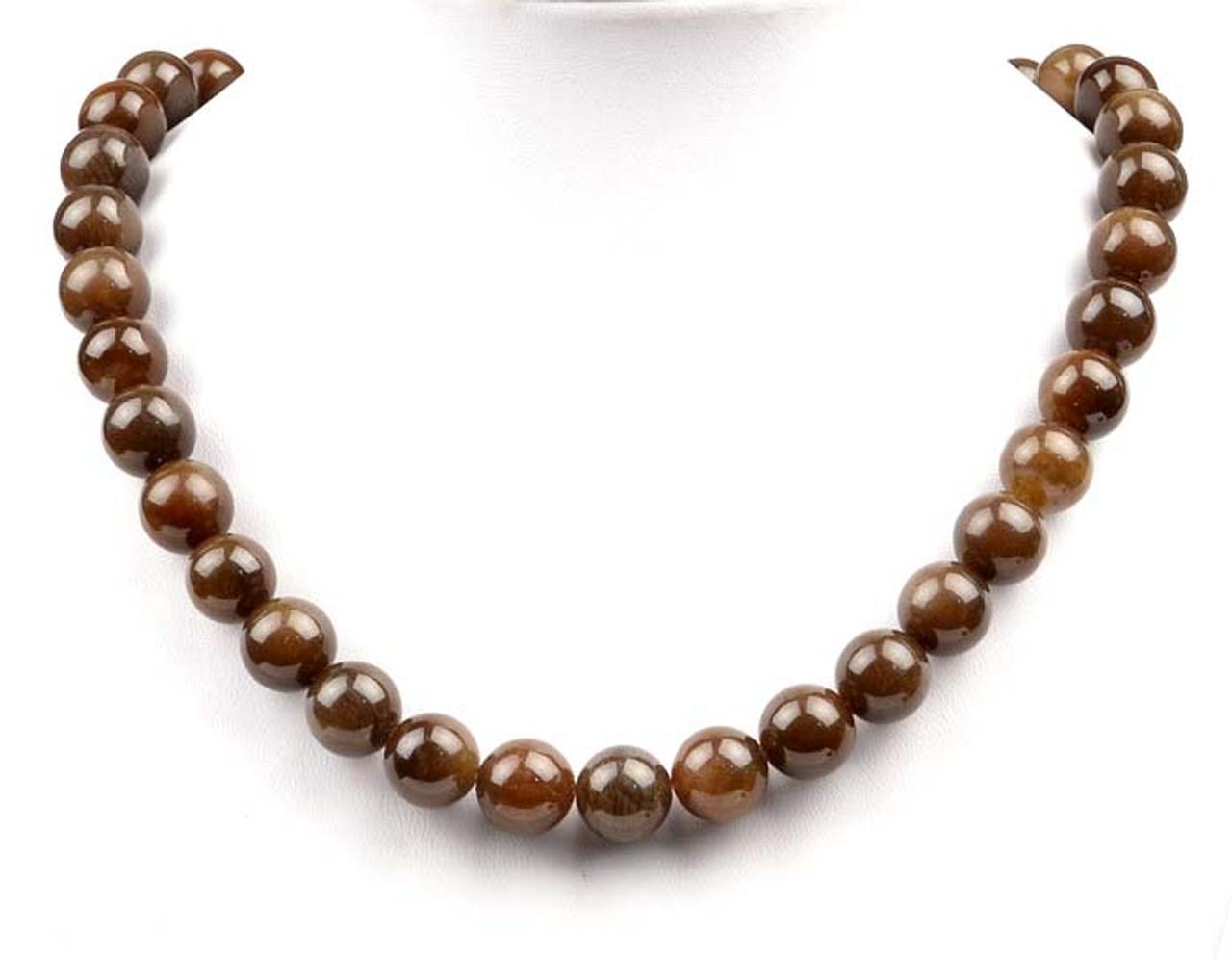 brown jade necklace