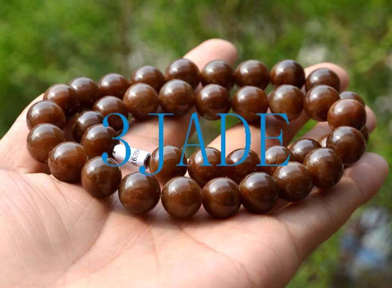 Hetian jade necklace