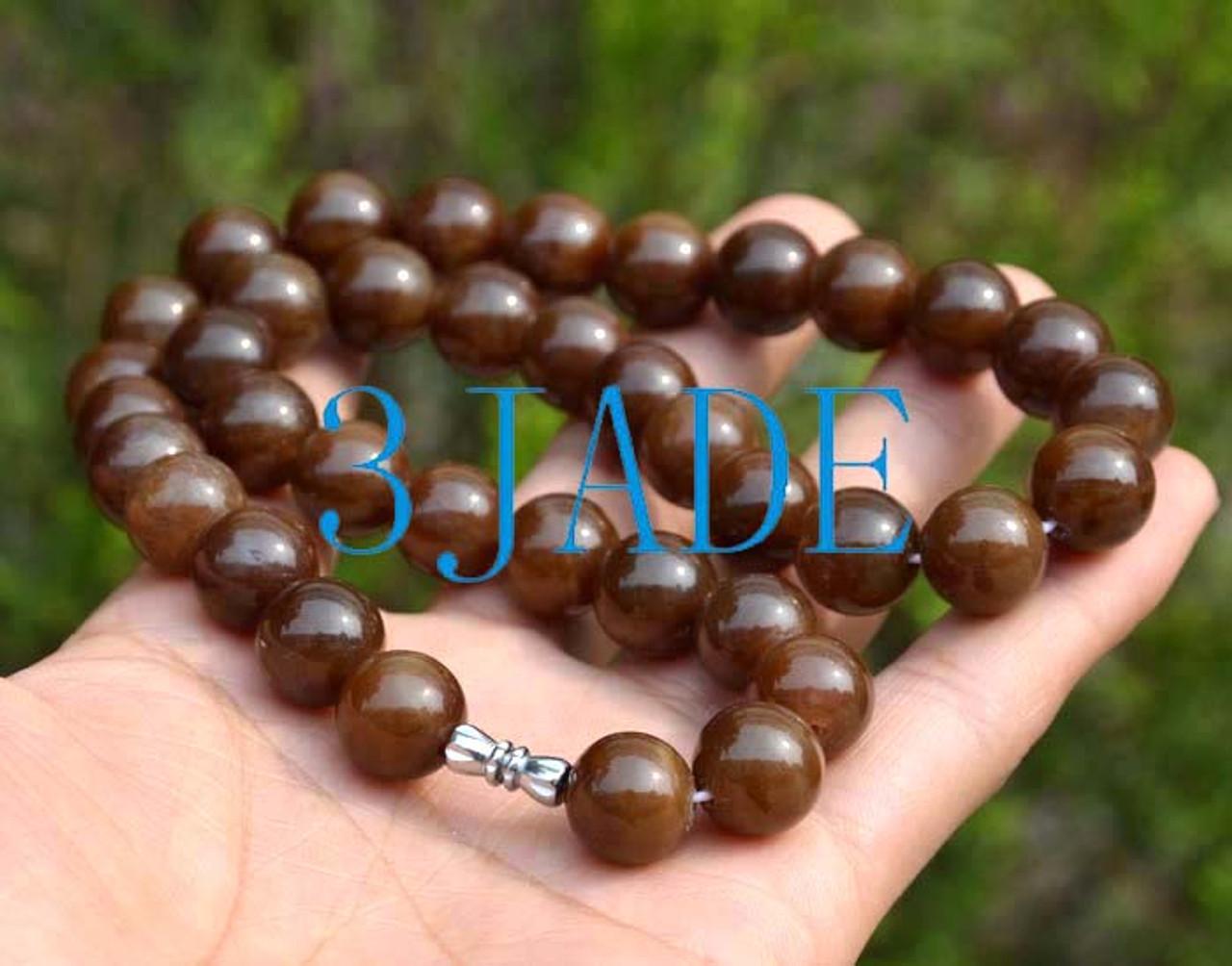 Hetian sugar jade necklace