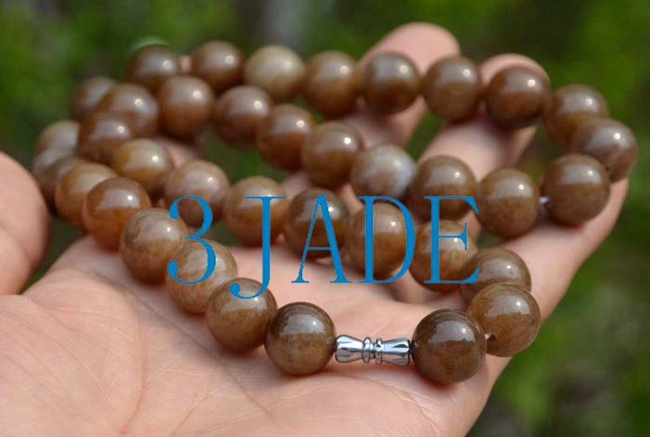Hetian honey jade necklace