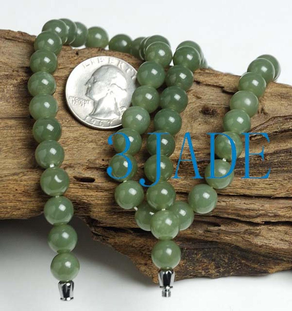 celadon nephrite jade necklace