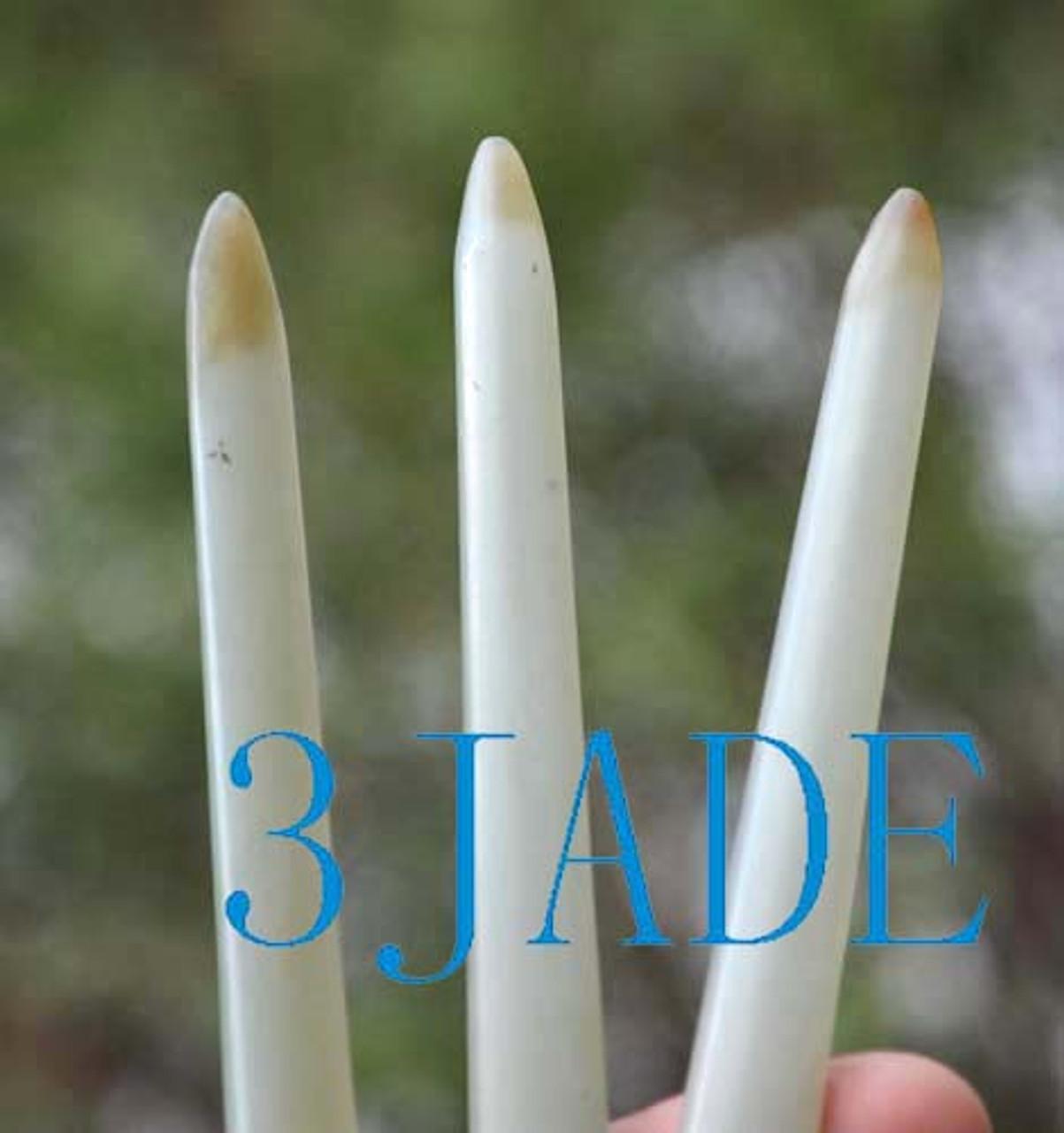 Hetian jade hair stick