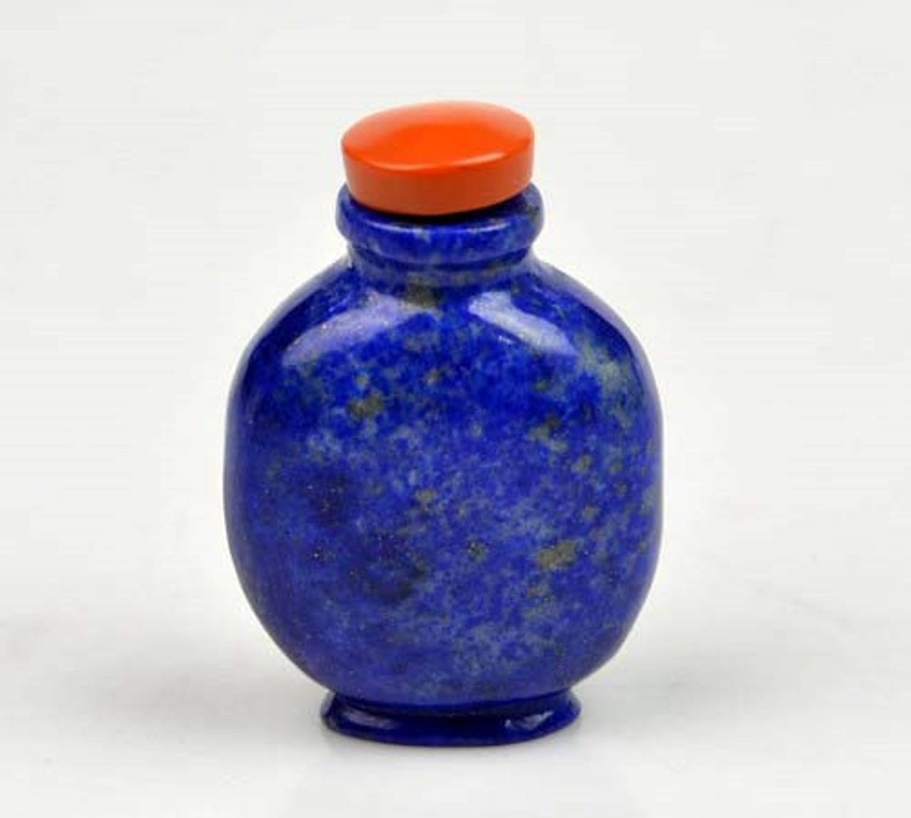 Hand Carved Natural Lapis Lazuli Snuff Bottle Chinese Carving -N009183