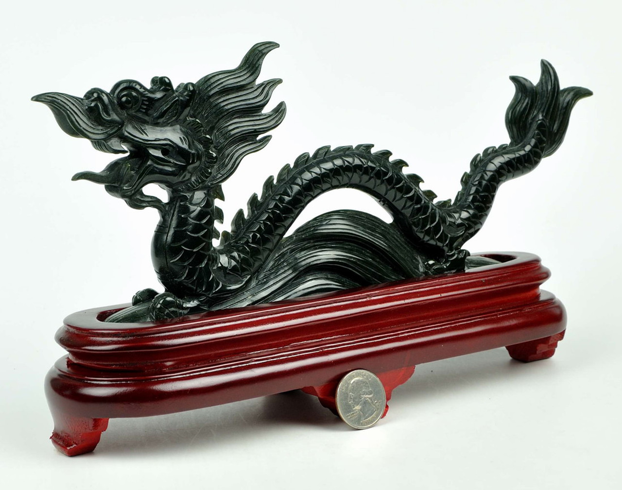 China Collectible Hand-Carved Dragon Statue Bronze Tobacco Pipe Gift