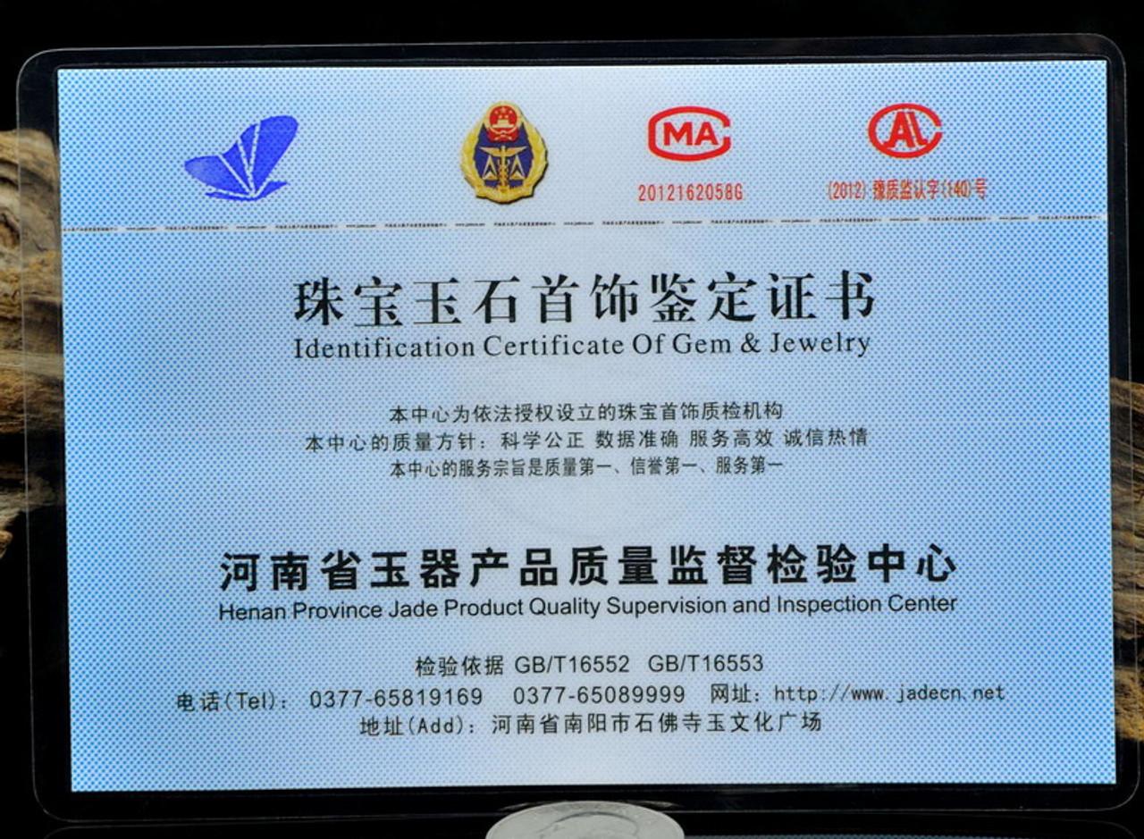 certificated jade