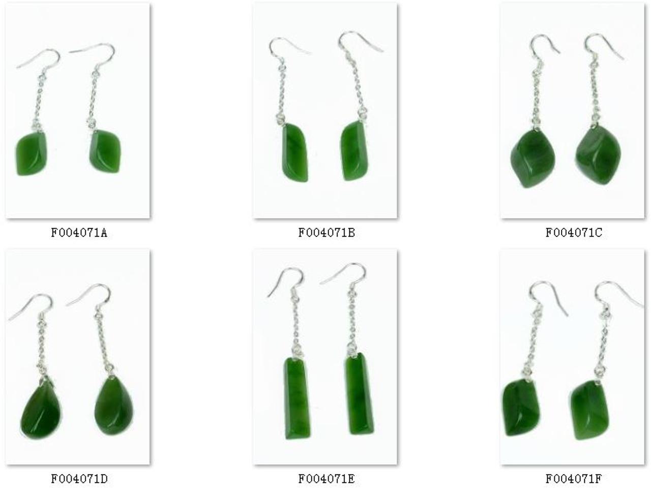 A Grade Jadeite Jade Drop Shape Earrings