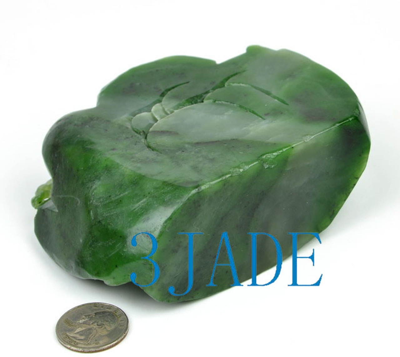 Natural Green Nephrite Jade Chinese Traditional Jade Mountain Statue -J026330