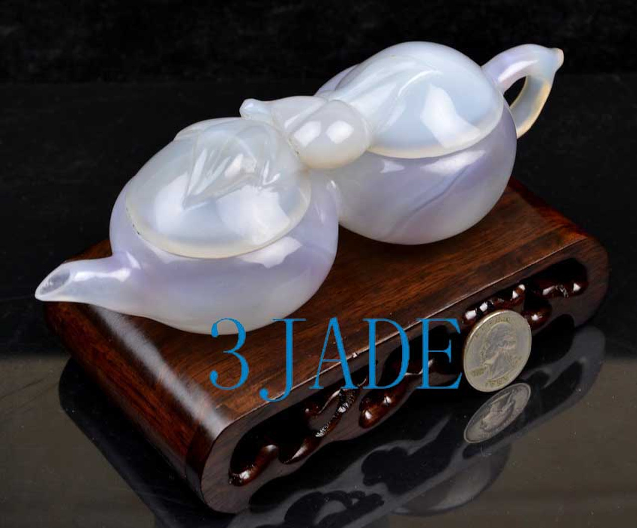stone double chamber teapot