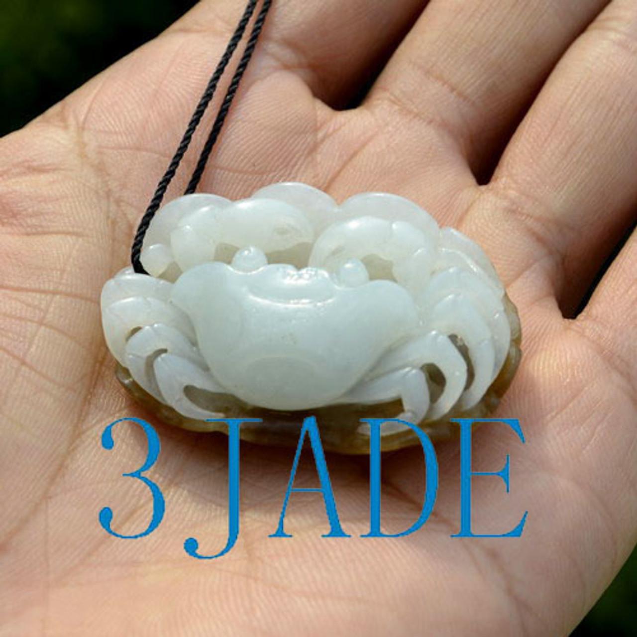 jade crab pendant