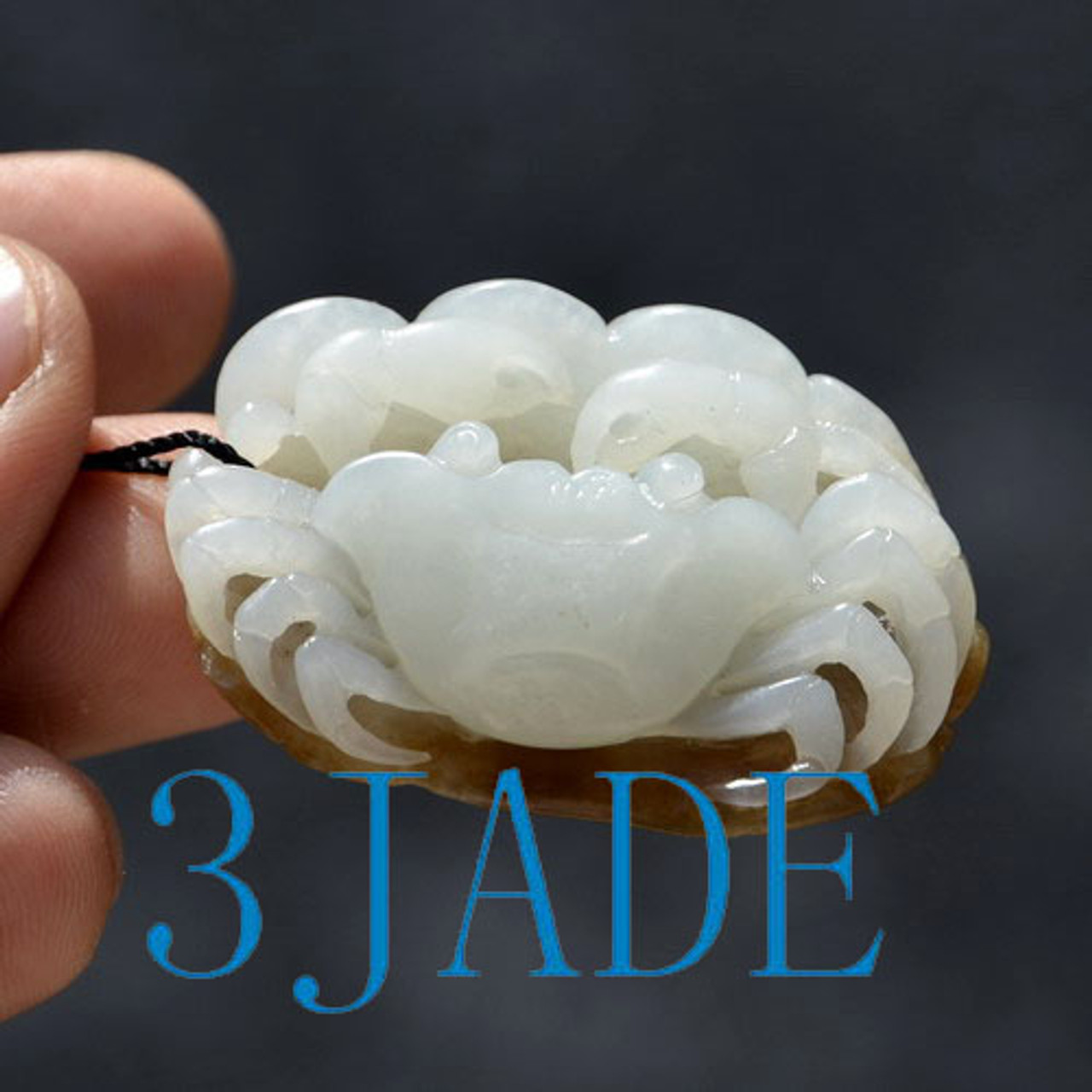hand carved jade crab