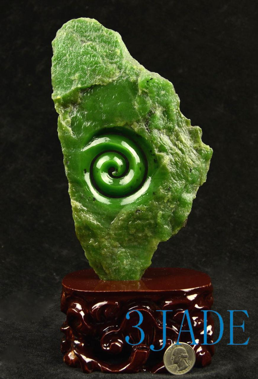 Pounamu Koru carving