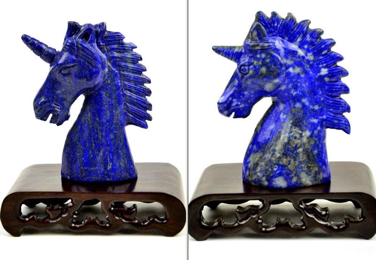 Lapis Lazuli Unicorn Statuette