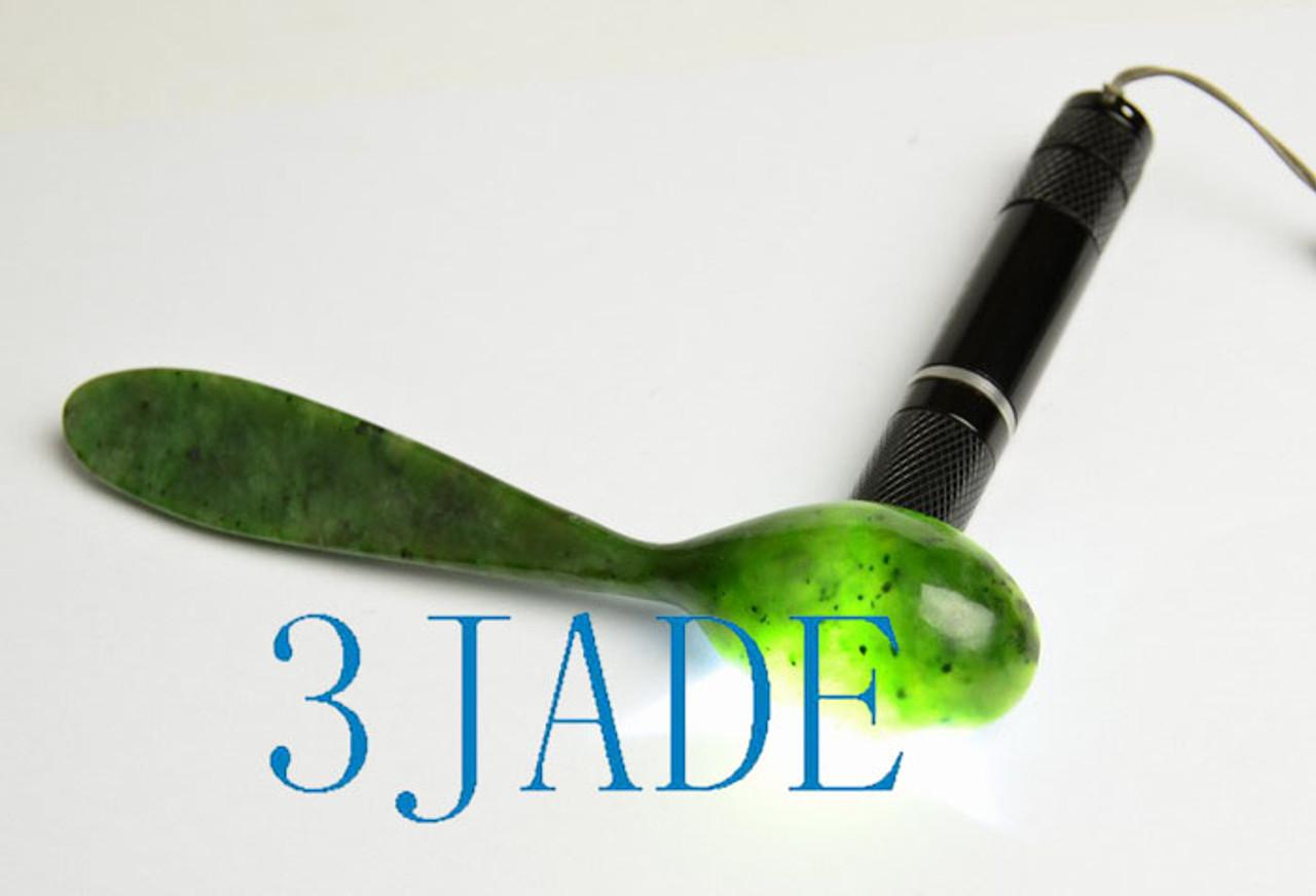nephrite  jade spoon