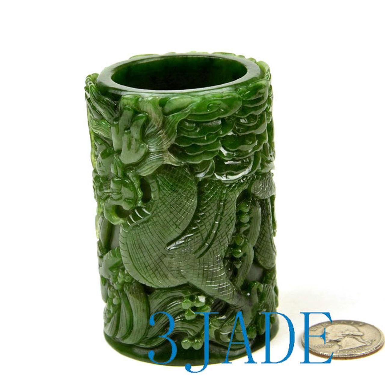 jade pen holder