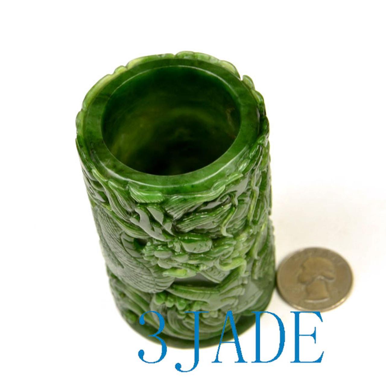 jade brush holder