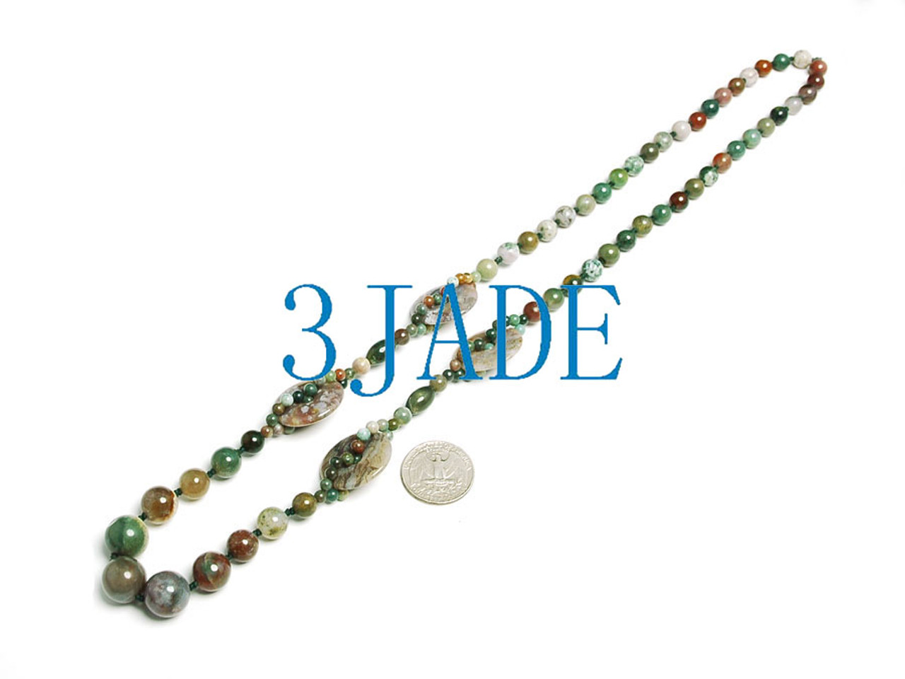 agate beads necklace