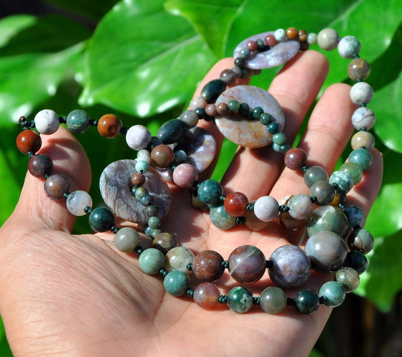 "29"" Natural Multicolor Moss Natural moss agate-D011053"