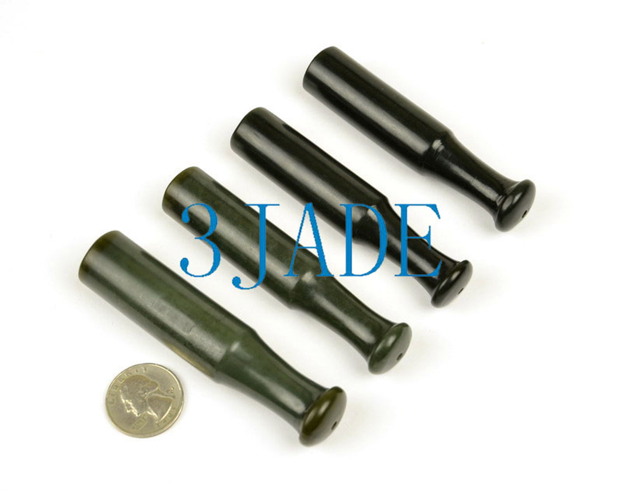 Natural Nephrite Jade Tobacco Pipe Mouthpiece Pipe Bit /Accessories