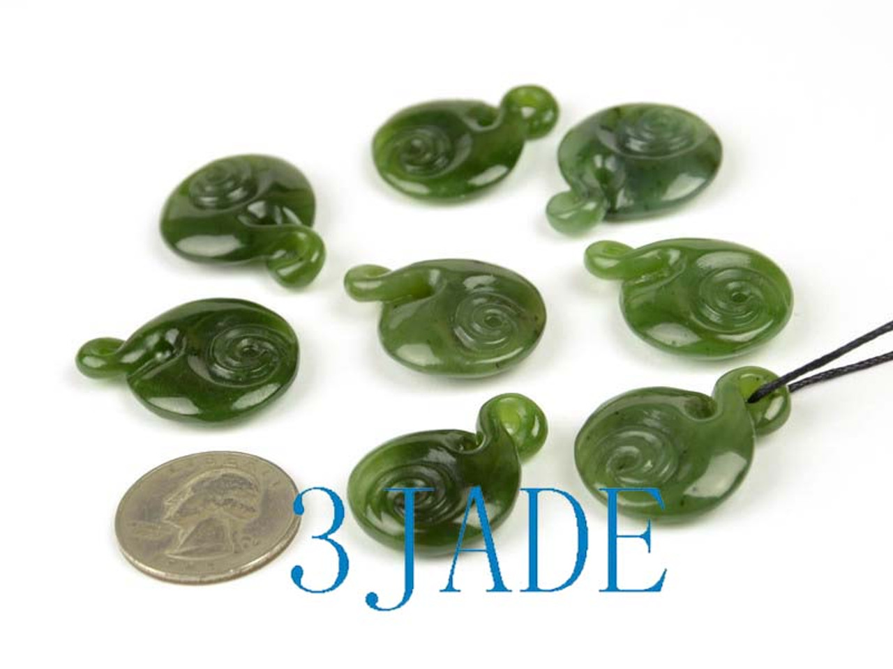 greenstone jade twist with swirl pattern