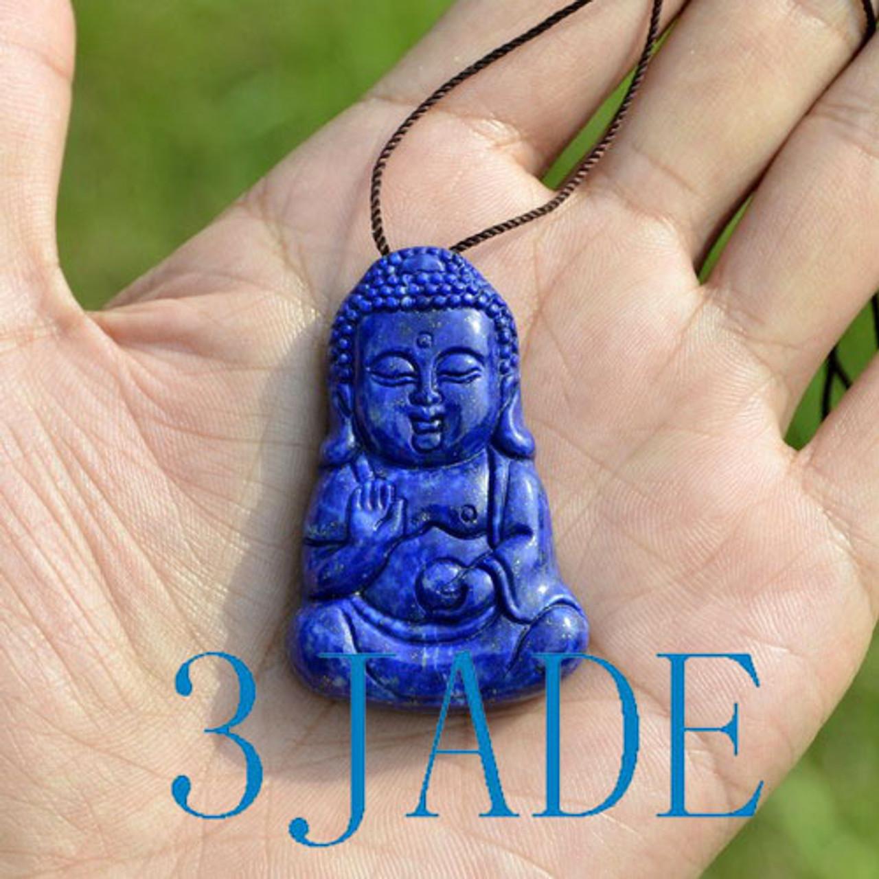 Natural lapis lazuli Shakyamuni   Buddha pendants amulet buddhha pendant God love anything