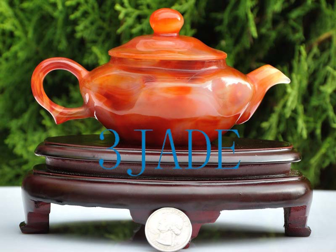 hand carved teapot